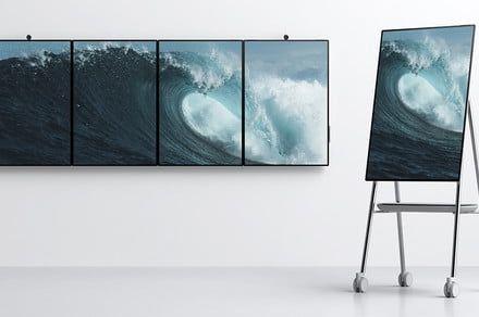 【商显资讯】微软Surface Hub 2S发布:50寸和85寸、可移动办公的电子黑板